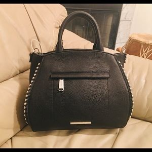 Steve Madden studded satchel NWT with strap